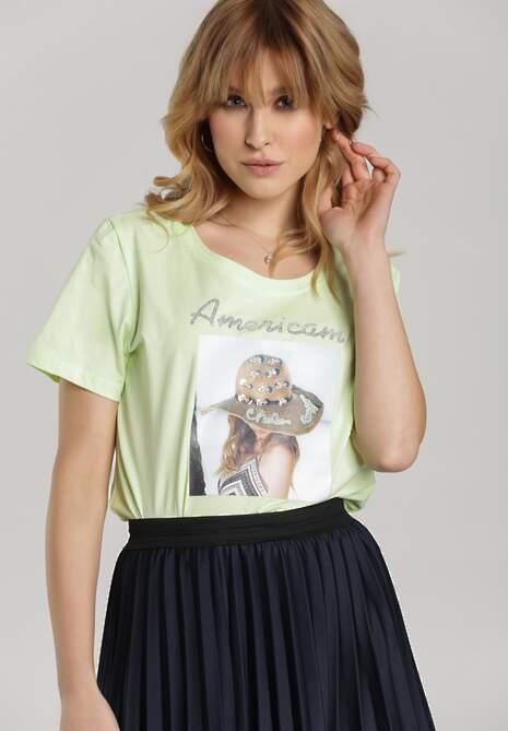 Jasnozielony T-shirt Galene