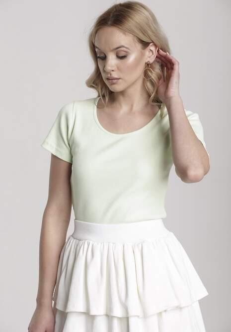 Miętowy T-shirt Nahlle