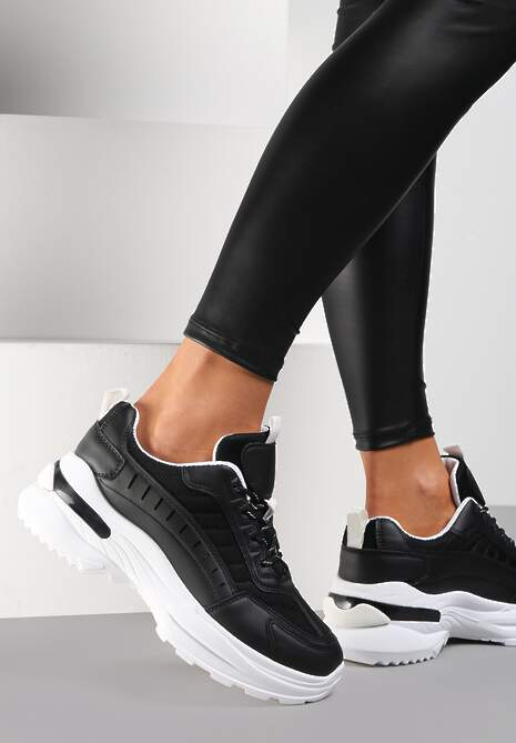 Czarno-Białe Sneakersy Brethose