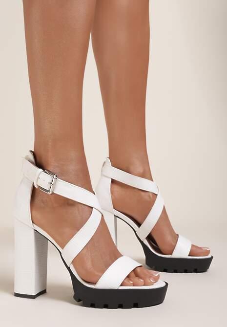 Białe Sandały Sereilia