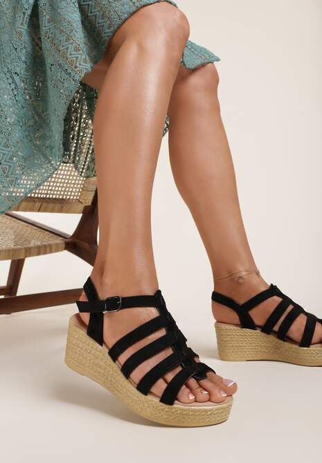 Czarne Sandały Raiphite