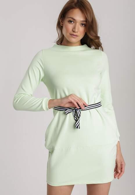 Limonkowa Sukienka Naumare