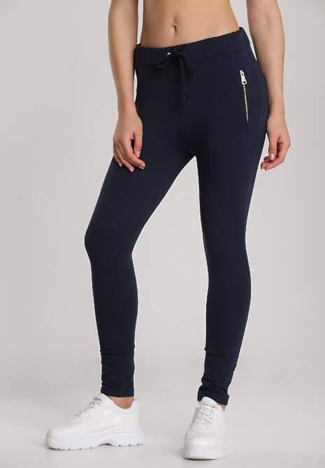 Granatowe Spodnie Aglaxera