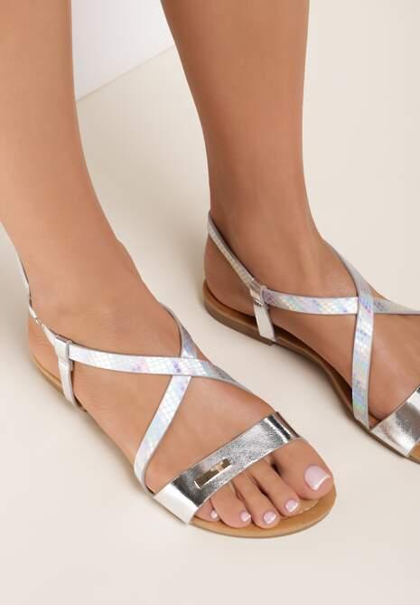 Srebrne Sandały Metionore