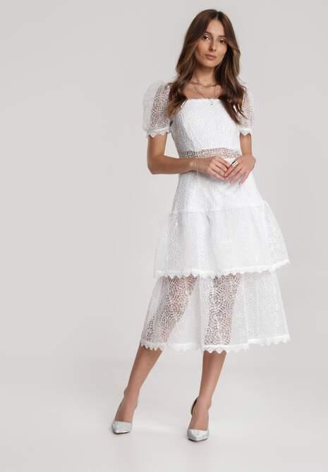 Biała Sukienka Pheliana