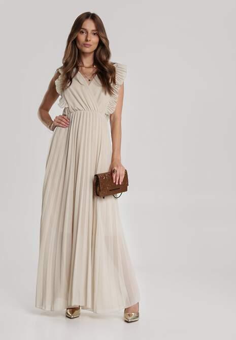 Beżowa Sukienka Aeleothusa