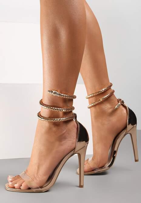 Szampańskie Transparentne Sandały Saphalane