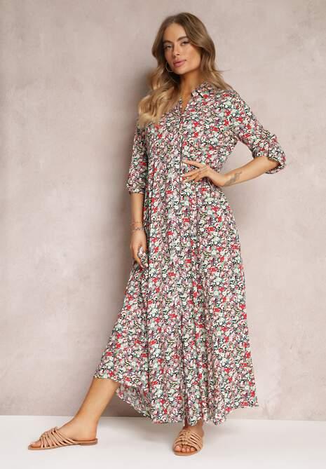 Granatowa Sukienka Crianore