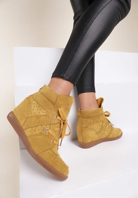 Żółte Sneakersy Mhyreth