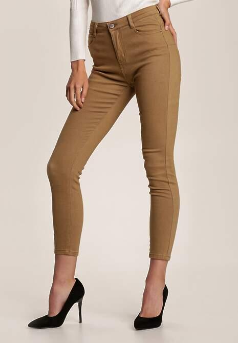 Khaki Spodnie Skinny Eliteia