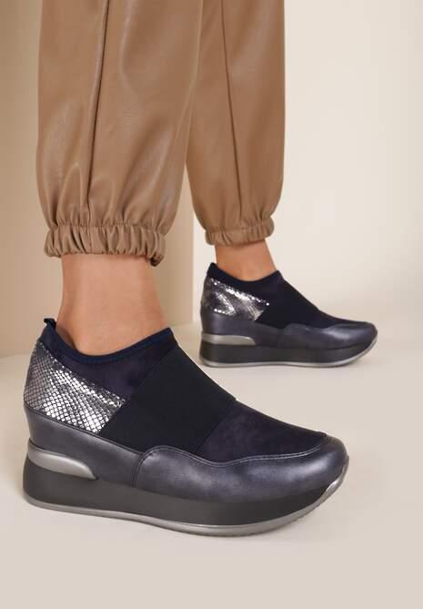 Niebieskie Sneakersy Eucrante