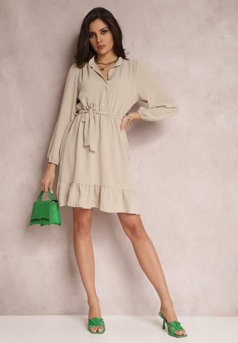 Beżowa Sukienka Sarera