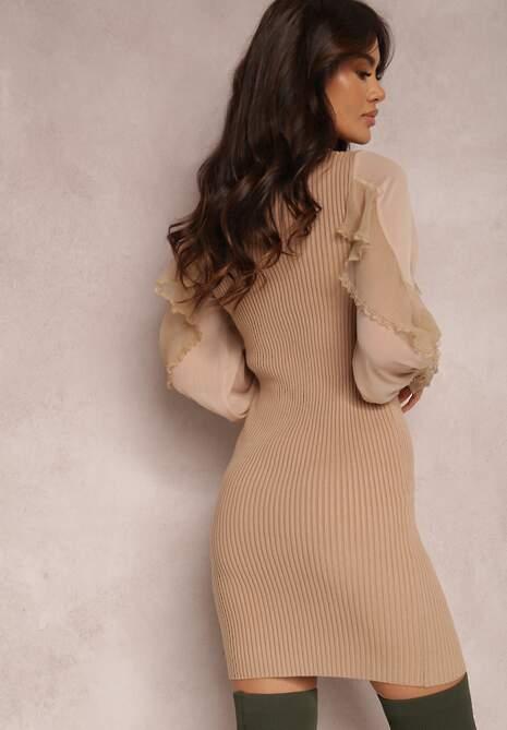 Beżowa Sukienka Lilinthine