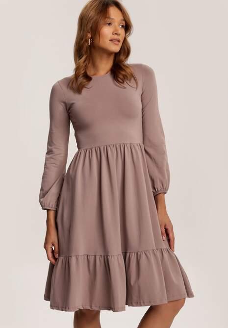 Beżowy Sukienka Aezsyss