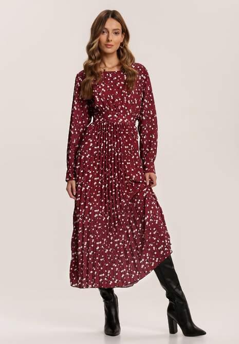 Bordowa Sukienka Lileth