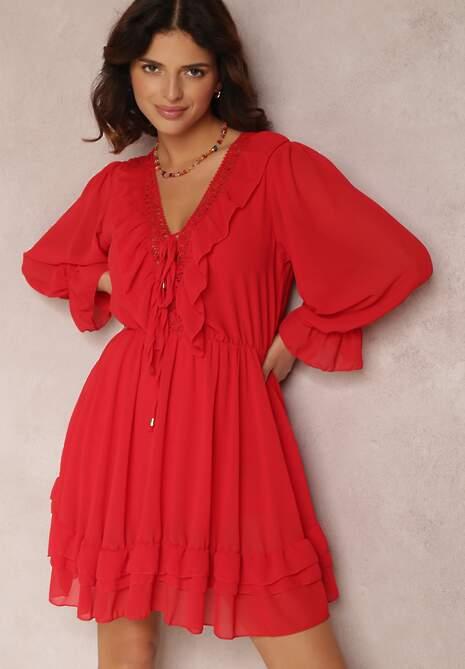 Czerwona Sukienka Brizsha