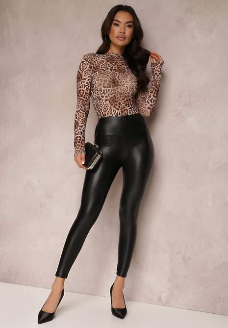 Czarne Spodnie Skinny Nemororin
