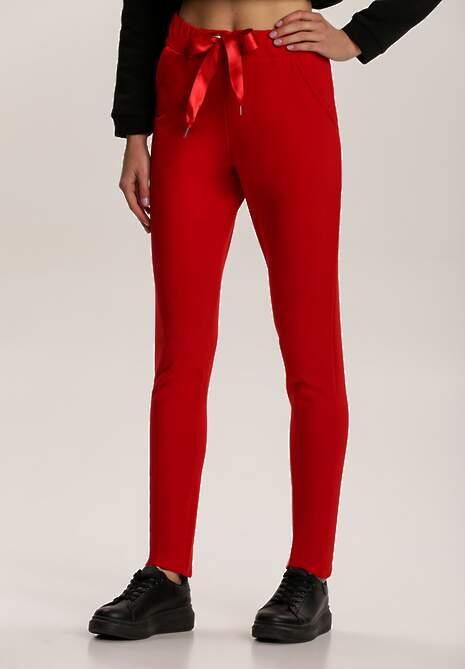 Czerwone Spodnie Dresowe Mistwing