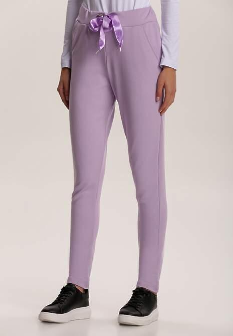 Lawendowe Spodnie Dresowe Mistwing