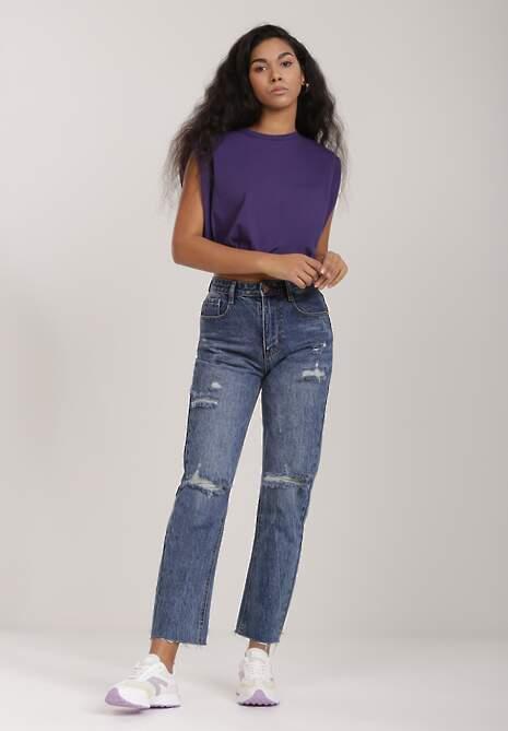 Niebieskie Jeansy Regular Vivilla