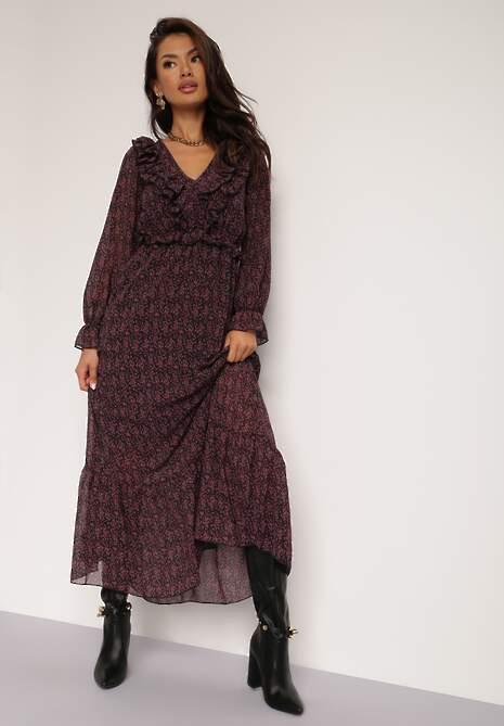 Czarno-Czerwona Sukienka Barleyrider