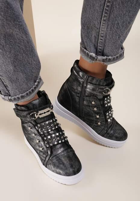 Srebrne Sneakersy Flatterbeam
