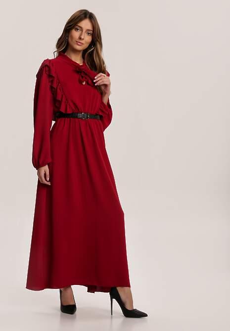 Bordowa Sukienka Firefoam