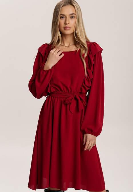 Bordowa Sukienka Hazeltoss