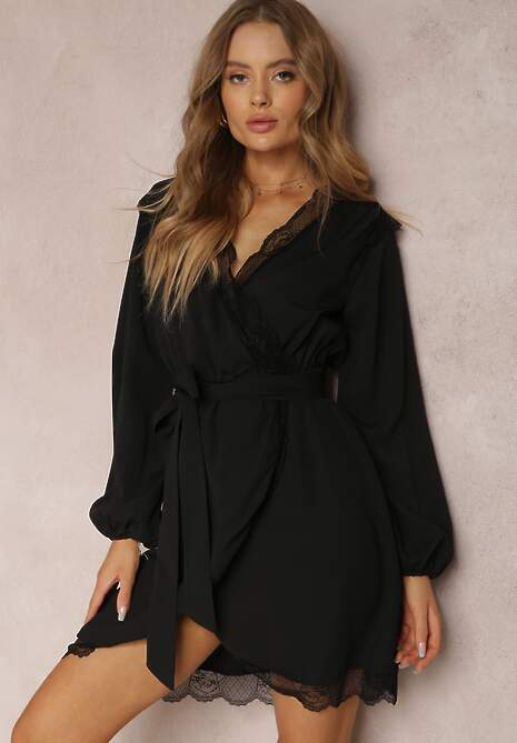Czarna Sukienka Twinklebreeze