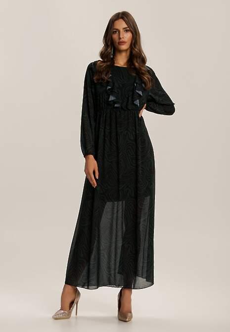 Ciemnozielona Sukienka Hial