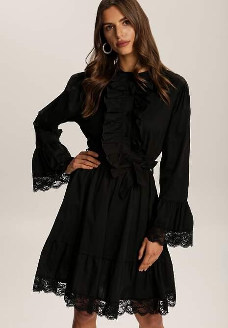 Czarna Sukienka Wranfaren