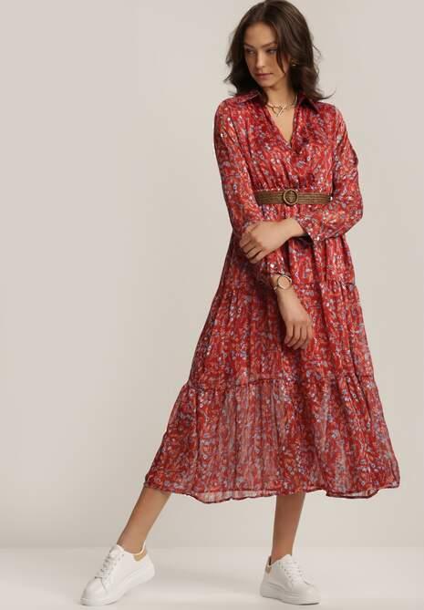 Bordowa Sukienka Ferridan