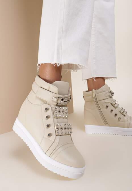 Beżowe Sneakersy Nightstar