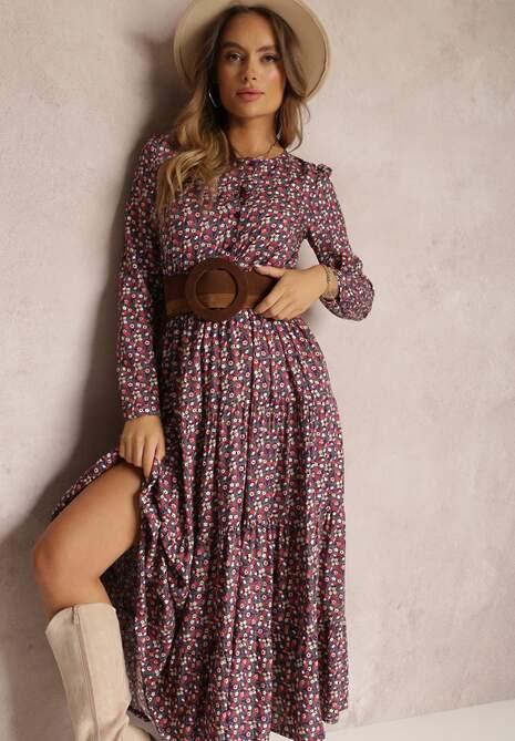 Fioletowa Sukienka Mariye