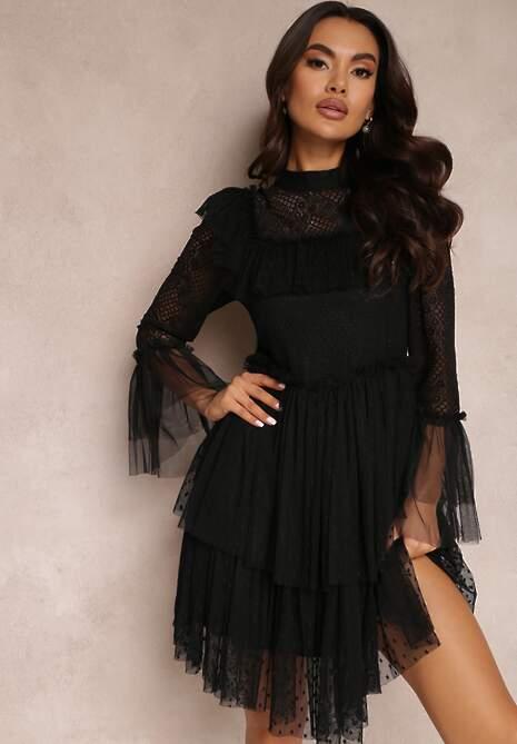 Czarna Sukienka Lamekea