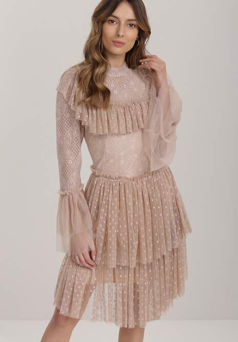 Beżowa Sukienka Lamekea