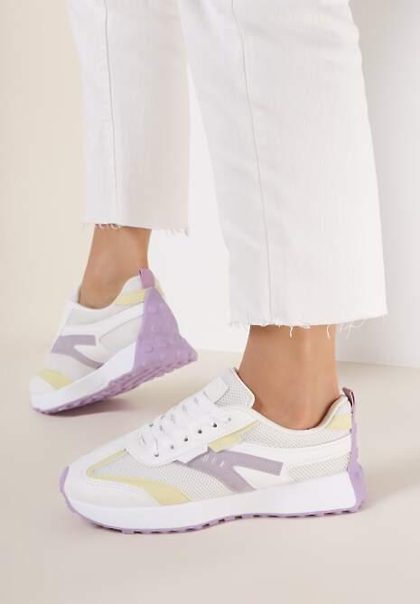 Biało-Liliowe Buty Sportowe Fisendri