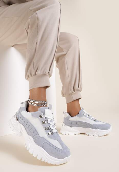 Jasnoniebieskie Sneakersy Chasanri