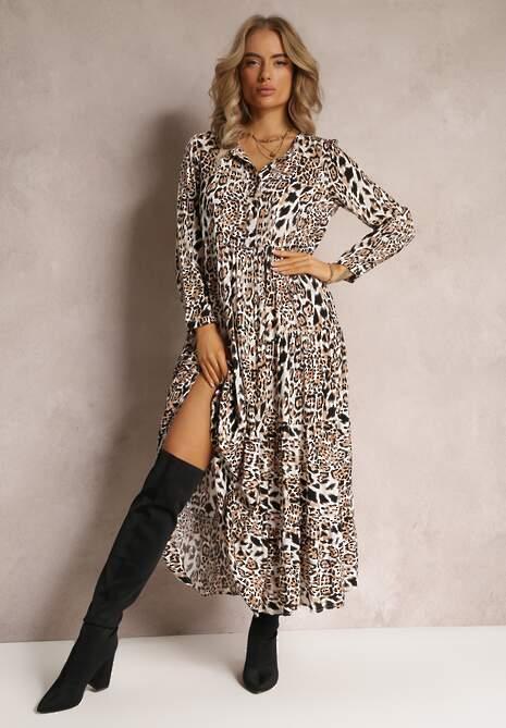 Camelowa Sukienka Athymes