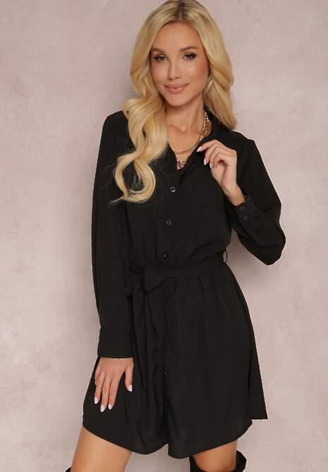 Czarna Sukienka Messessei