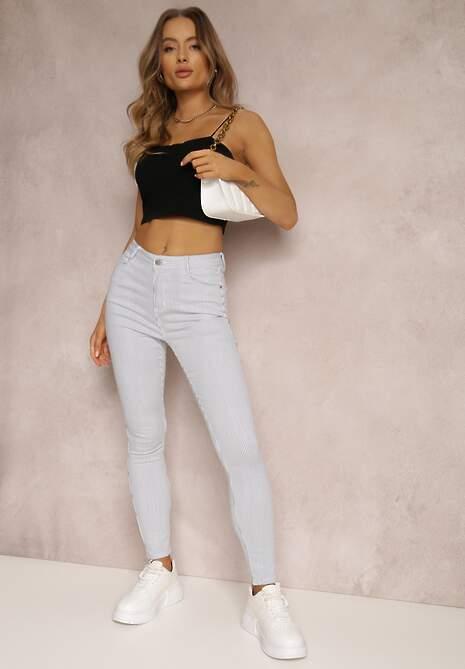 Niebieskie Spodnie Skinny Laonilla