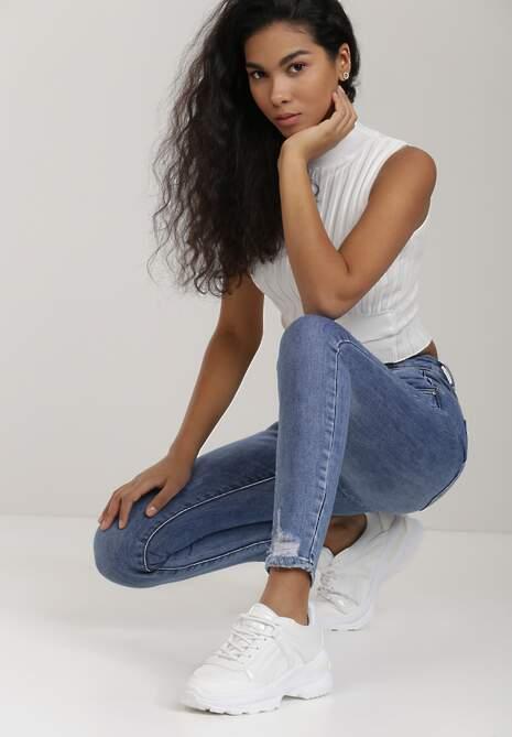 Niebieskie Jeansy Skinny Genenia