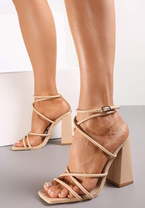 Beżowe Sandały Thelxiereino