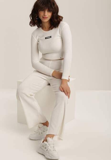Białe Spodnie Szerokie Salanome
