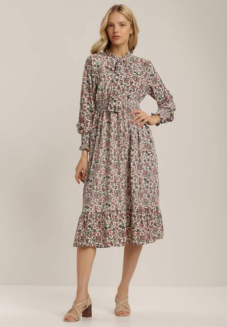 Biało-Różowa Sukienka Coreamara
