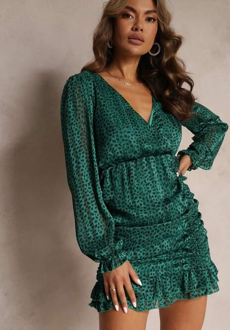 Zielona Sukienka Wolfgrove