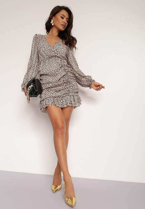 Beżowa Sukienka Wolfgrove