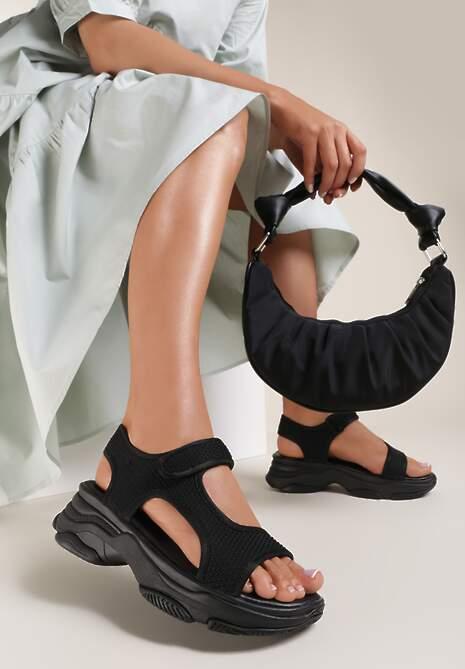 Czarne Sandały Castithis