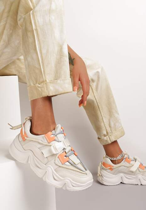 Beżowe Sneakersy Nysalaira