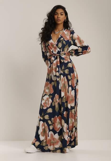 Granatowa Sukienka Aegaguna